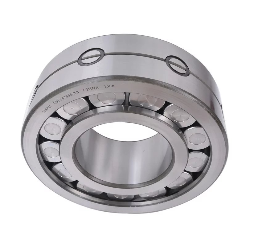 Cylindrical roller bearings with spacers