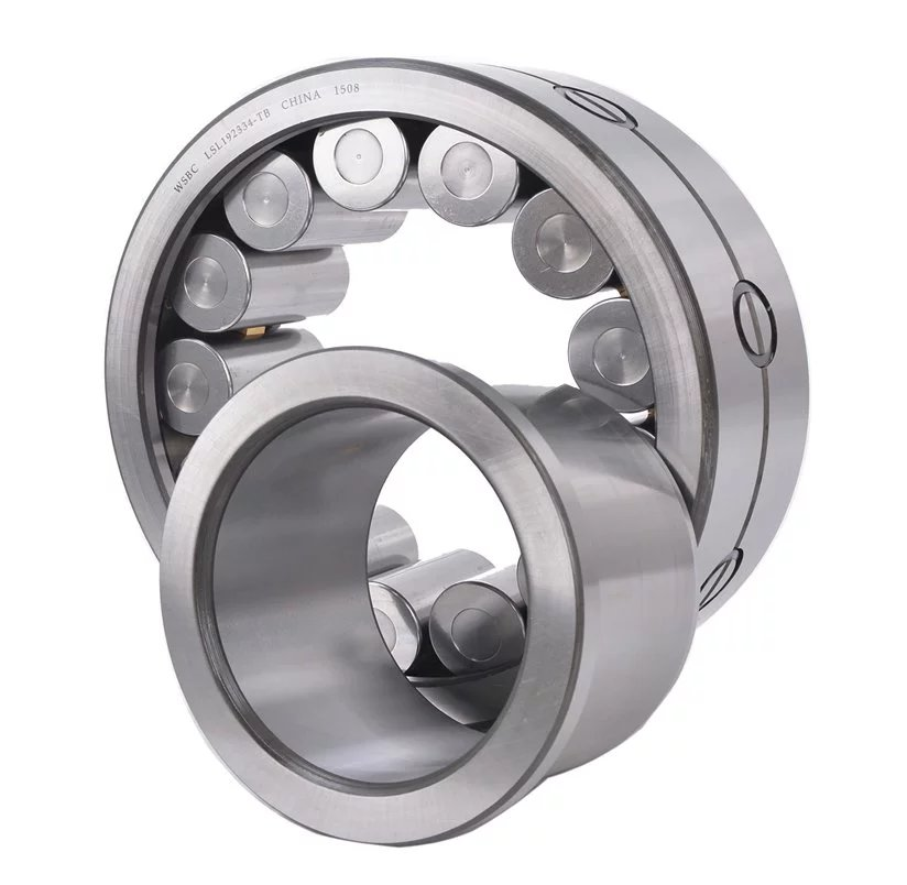 Cylindrical roller bearings with a disc cage