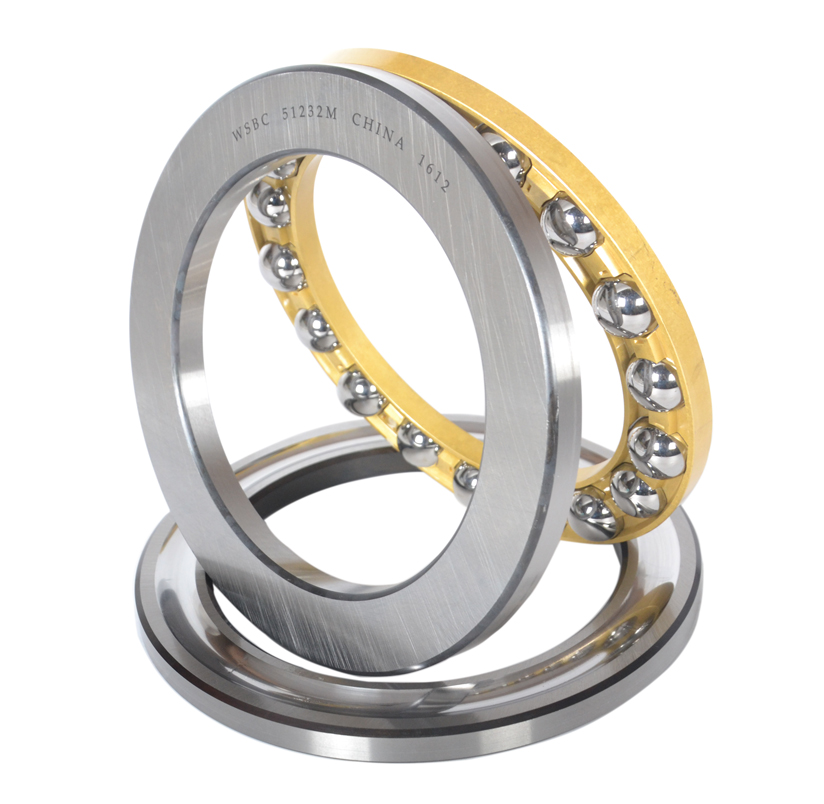 Double direction thrust ball bearings